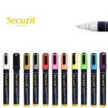 Securit 6mm Chisel Wet Wipe Chalk Markers